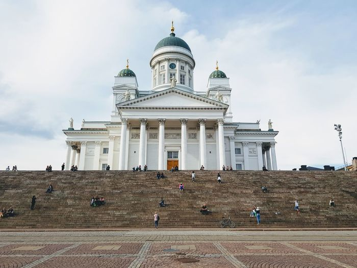 Finland Helsinki Politics And Government City Dome History Religion Sunset Sky Architecture Landscape Built Structure Civilization Monument National Monument