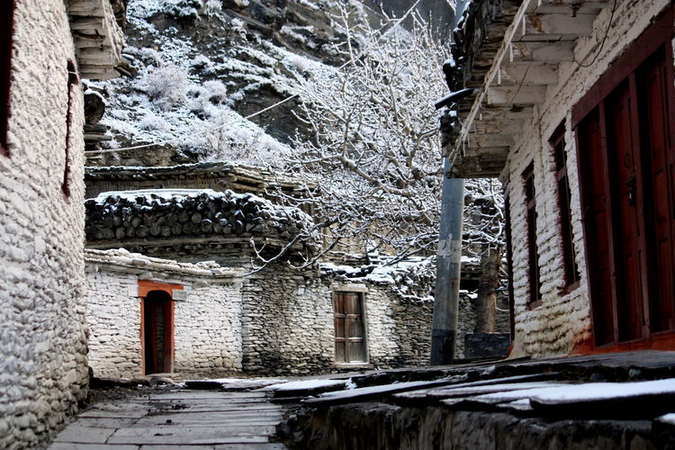 ASIA Building Exterior Cold Temperature Marpha Nepal No People Non Urban Scene Outdoors Snow Snow ❄ Travel Photography Village Winter Winter Trees Winter Wonderland