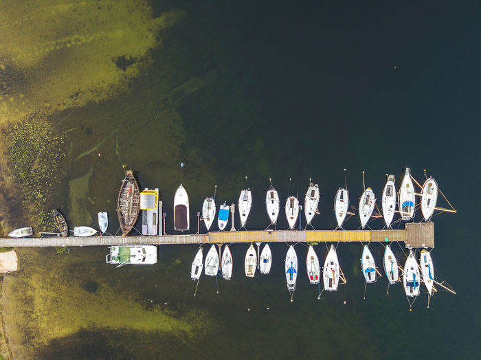 Port Aerial Shot Drone  Lietuva Aerial Aerial View Architecture Art And Craft Built Structure Day Drone Photography Europe Lake Mavic Mavic Pro Mode Of Transportation Nature Nautical Vessel No People Outdoors Parked Plant Reflection Sky Tranquility Transportation Tree Water Waterfront Yacht
