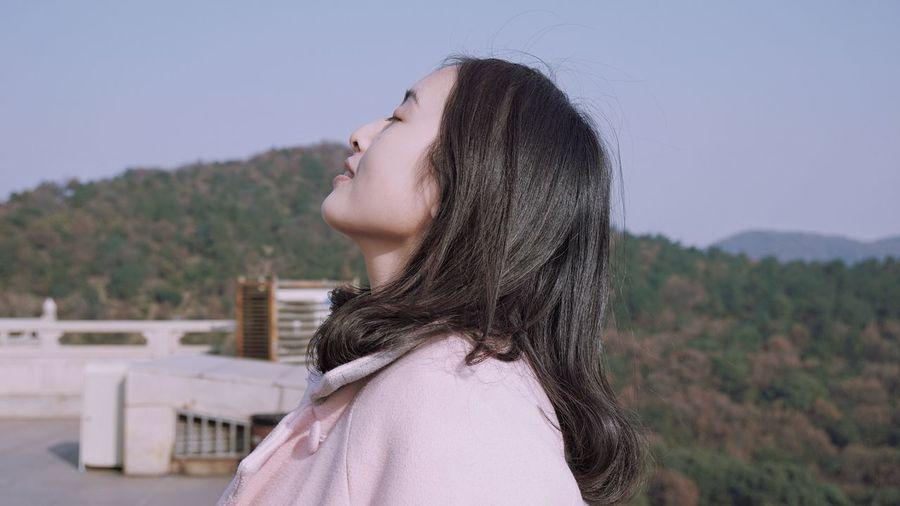Beautiful Woman Against Sky