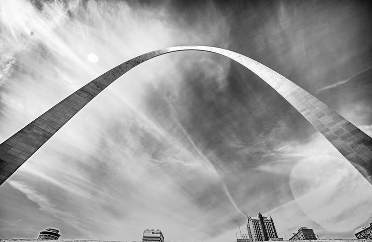 Arch Architecture Black And White Black And White Photography Built Structure Low Angle View