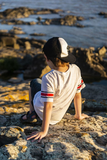 #FREIHEITBERLIN Child Water Childhood Sitting Boys Beach Full Length
