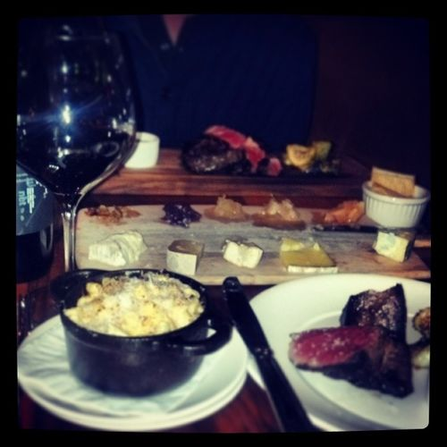 Medium rare + mac/cheese + Chinese board + wine = best meal in S.F.