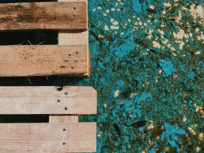 Wood - Material Day Plank Outdoors No People Nature Close-up Water Pool Textures Textures And Surfaces Colors