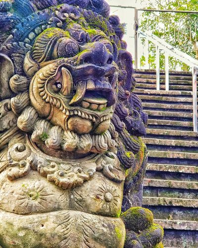 Barongan at pura mandara giri lumajang Religious Architecture Religious Art Religion And Beliefs Religious Place Traveling Travel Photography Travel Destinations Tample Hindu Temple Statue Day No People Outdoors Close-up Nature EyeEmNewHere