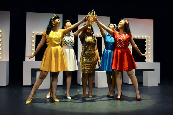 365project2017 40/365 60s Fashion The Fortunettes Toast Arms Raised Celebration Fashion Friendship Night Party - Social Event Performance Retro Styled Togetherness Vintage Young Adult Young Women