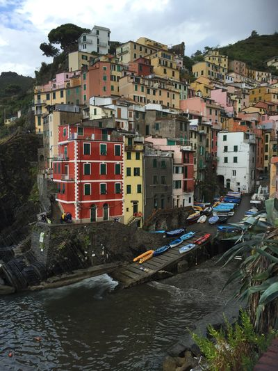 Riomaggiore Cinque Terre Italy Architecture Building Exterior Built Structure Building Residential District City Nature Cloud - Sky