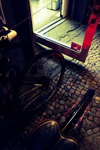 Berlin Berlin At Night Night Rider Bicycle Neon Lights Ride At Night Riding Bike Party In The Street Späti Beer Time Technology Music Communication Close-up