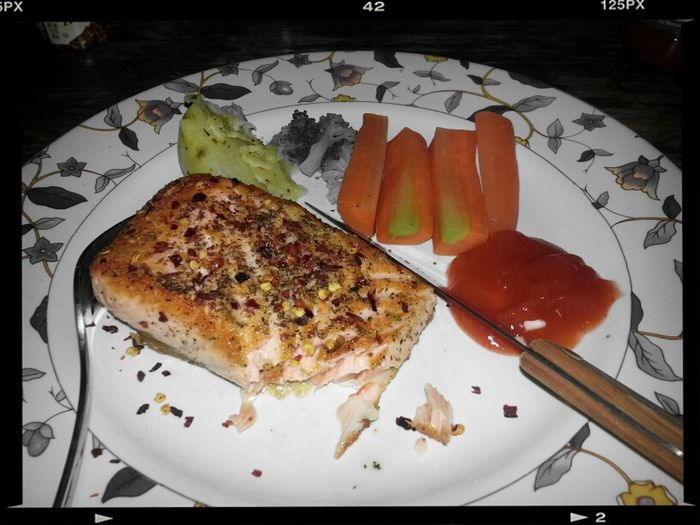 Salmon Pan Fried seala-alanya