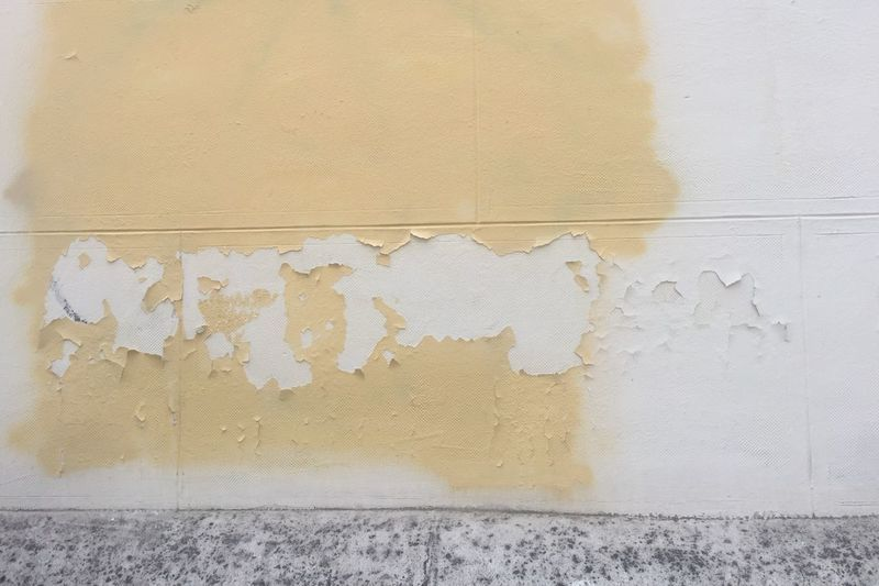 Wall - Building Feature Built Structure Architecture White Color Yellow Wall Paint No People Textured  Damaged Close-up Pattern Building Exterior Old Deterioration Full Frame Day Peeling Off Peeled The Minimalist - 2019 EyeEm Awards