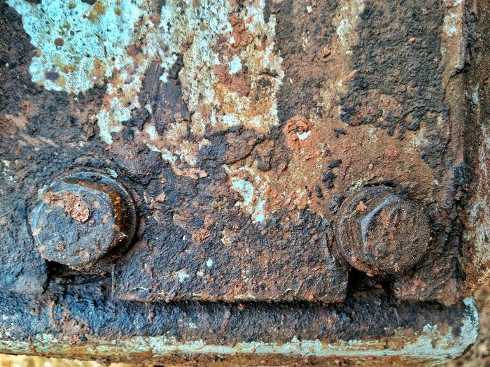 Backgrounds Full Frame Textured  Rusty Rough Pattern Close-up Worn Out Bad Condition Peeled Run-down Discarded Abandoned Weathered Civilization Peeling Off Decline Damaged Deterioration Obsolete
