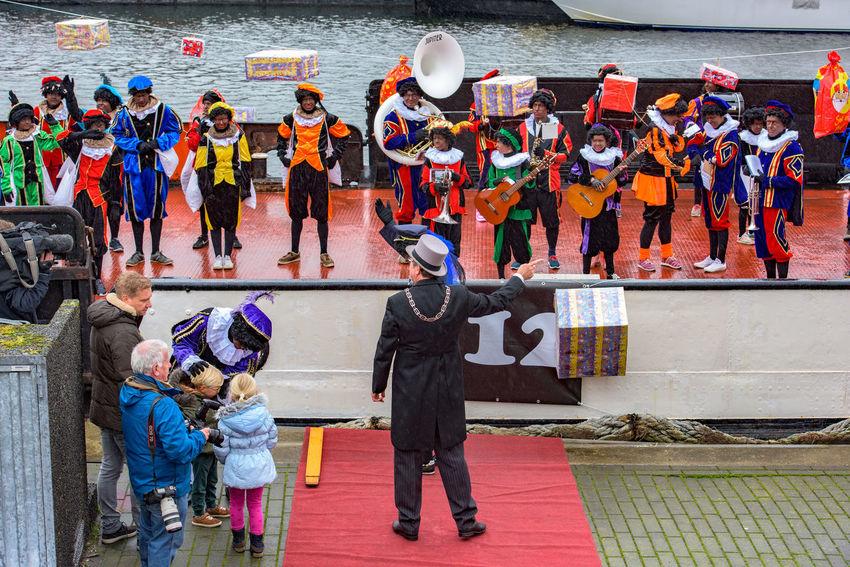 Band Children Festive Season Happy How You Celebrate Holidays Intochtsinterklaas Kinderenaanhetwater Netherlands Santa Claus Ship Sinterklaas St. Nicolas Zwarte Piet The Culture Of The Holidays The Festive Season