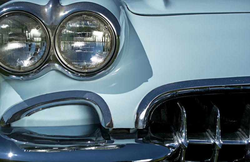 Detail shot of headlight