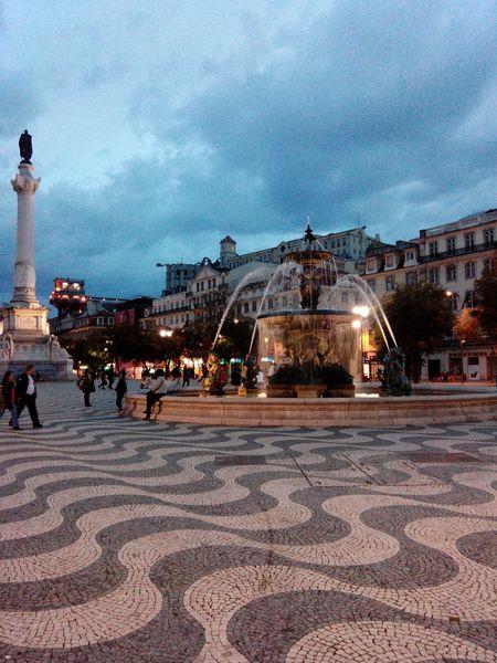 Praçadorossio Rossio Lisboa Lisbon Baixalisboa Baixachiado Downtown Lisbondowntown Plaza Lisboncenter