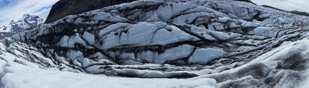 Skaftafellsjökull, glacier in Iceland Beauty In Nature Cold Temperature Frozen Glacial Glacier Ice Iceland Landscape Nature No People Outdoors Skaftafellsjökull Snow