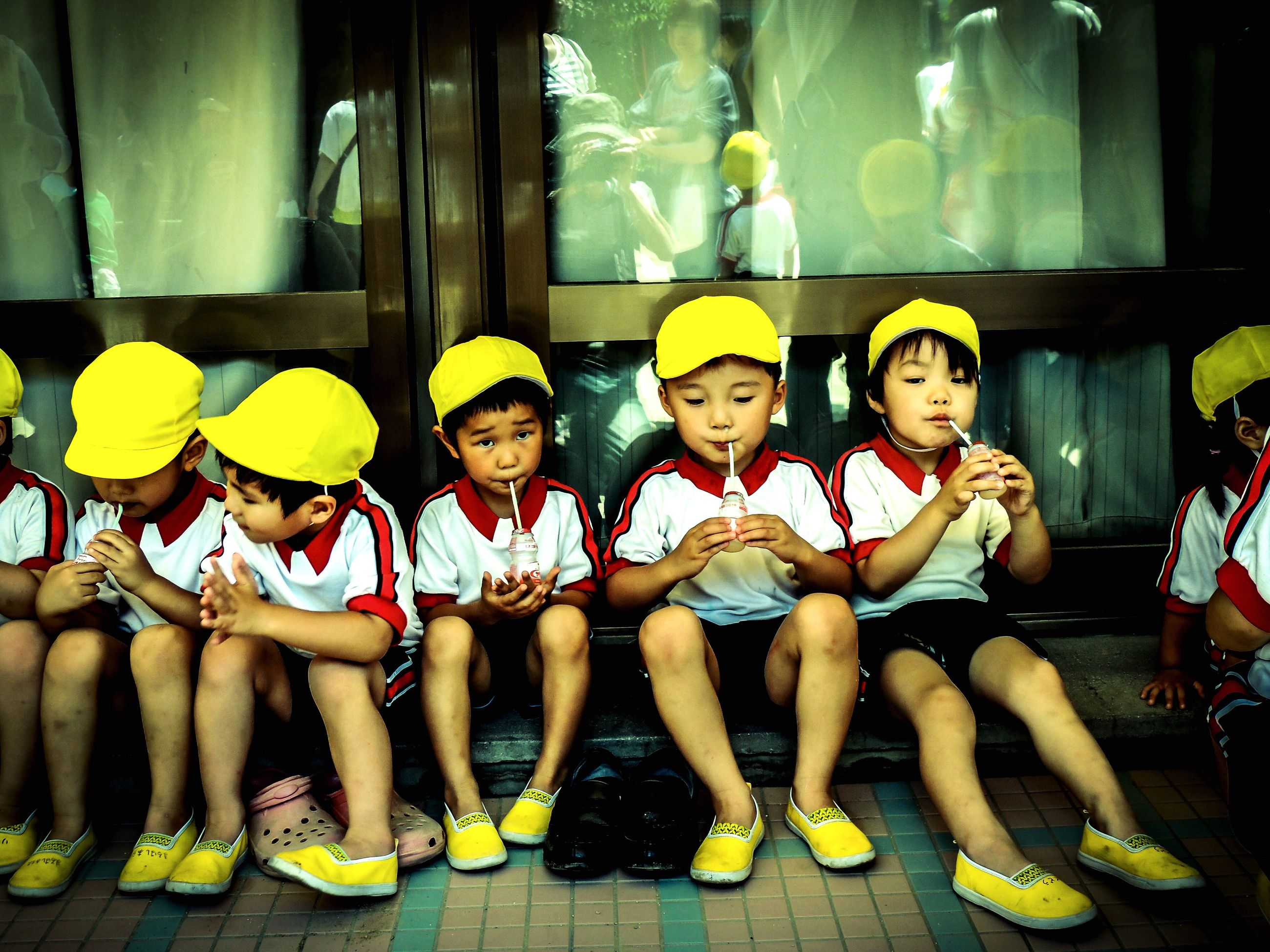 togetherness, childhood, leisure activity, front view, person, friend, event