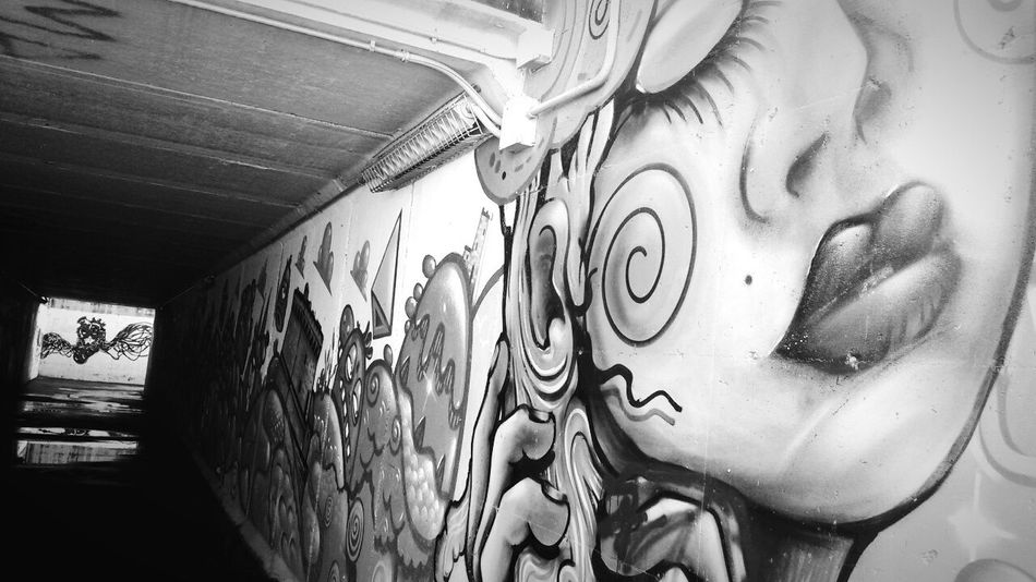 Maximum Closeness Spray Paint Street Photography Streetphoto_bw Streetart/graffiti Art & Craft Subway Tunnel Eye4photography  Close-up Film Is Not Dead The EyeEm New Talents Gallery Thanks So Much For Your Support Welcome To The Other Dimension PerspectiveShot Lines And Patterns EyeEm Best Shots - The Streets Light And Reflections Architecture And Art Reflections And Shadows EyeEm Bnw Welcome To Black Done That. EyeEm Studio Italy Second Acts The Graphic City