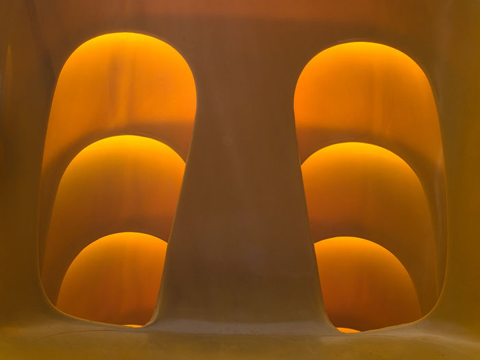 Abstract Close-up Day No People Orange Color Outdoors Stacked Chairs Yellow