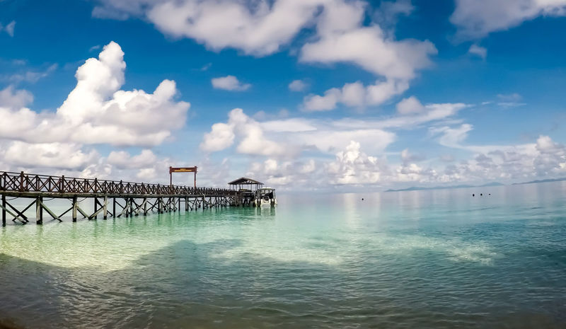 SIPADAN ISLAND, SABAH. MALAYSIA. Beauty In Nature Blue Beach Backgrounds Island Trulyasia Natural Green Lovelife Nice Diving Diving Boat Sky Jety