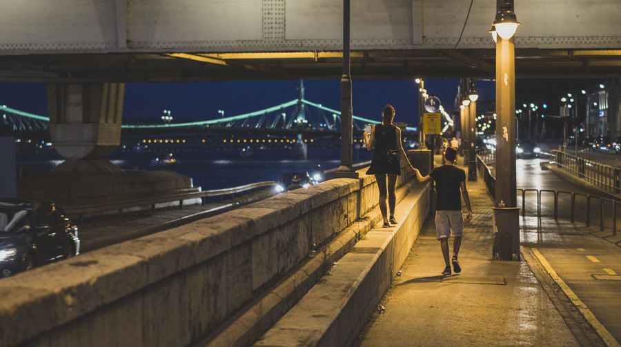 Architecture Bridge Budapest Built Structure Connection Couple Danube Evening Long Love Narrow Perspective Pier River Sea Streetphotography Summer Suspension Bridge The Way Forward Water