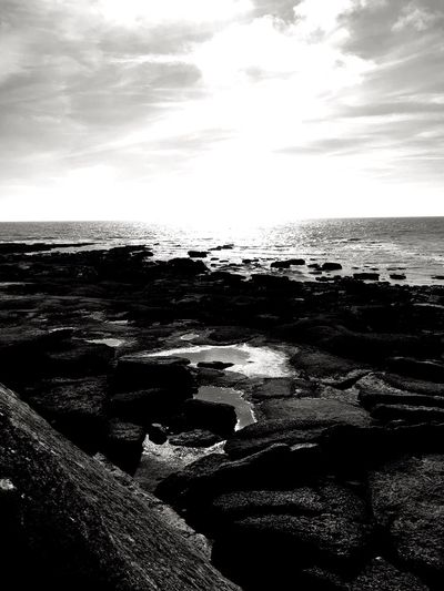 France Côte D'Opale Opale Coast Audresselles ShotOnIphone IPhone Lenkacam Black And White Photography Black & White Black And White Clouds Sun Sea Horizon Over Water Water Nature Beach Tranquil Scene Tranquility Scenics Beauty In Nature Outdoors Sky No People Sand Travel Destinations