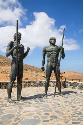 Ayose And Guize Ayose Guize Fuerteventura Monument Monumento Denkmal Statue Statues Estatua Estatuaria Kanaren Islas Canarias Canary Islands Kanarische Inseln The Great Outdoors - 2016 EyeEm Awards Two Is Better Than One