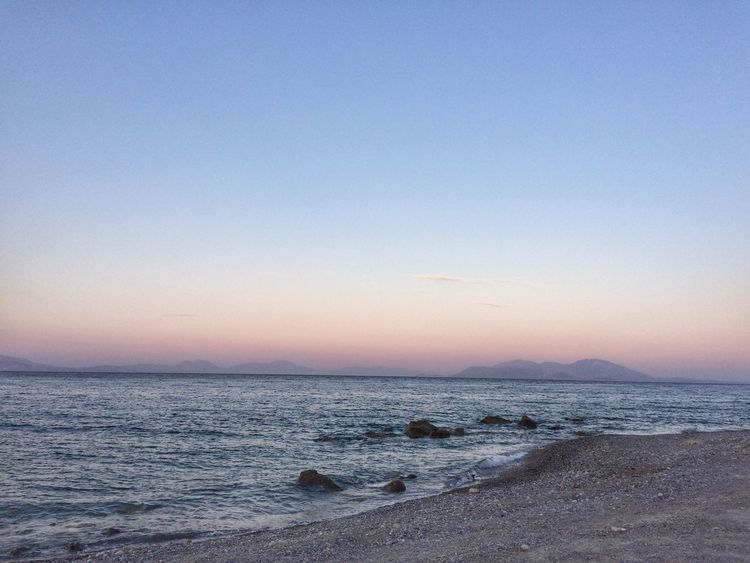 Horizon EyeEm Selects Sky Water Sea Scenics - Nature Sunset Tranquility Nature Beach No People Horizon Clear Sky Outdoors