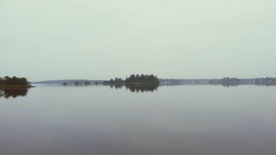 Sverige Nature Water Reflections Morning