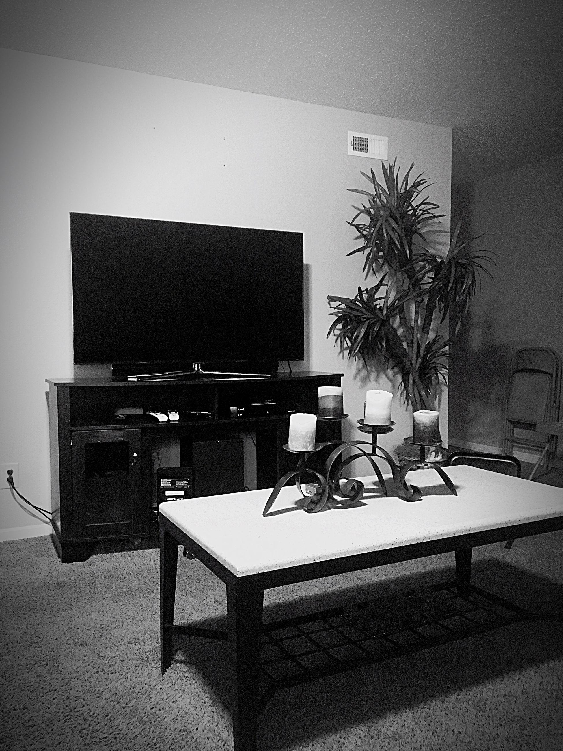 table, indoors, home interior, chair, absence, no people, desk, potted plant, furniture, computer, technology, living room, home showcase interior, domestic room, cabinet, day