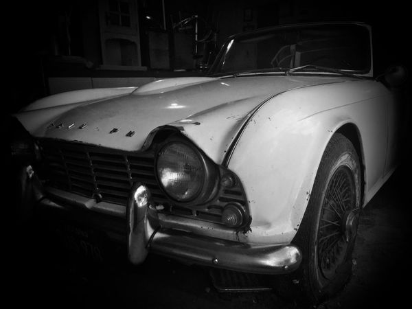 1963 Triumph TR4 Car Transportation Outdoors Night