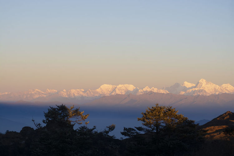 Everest View Point at Sandakphu, India