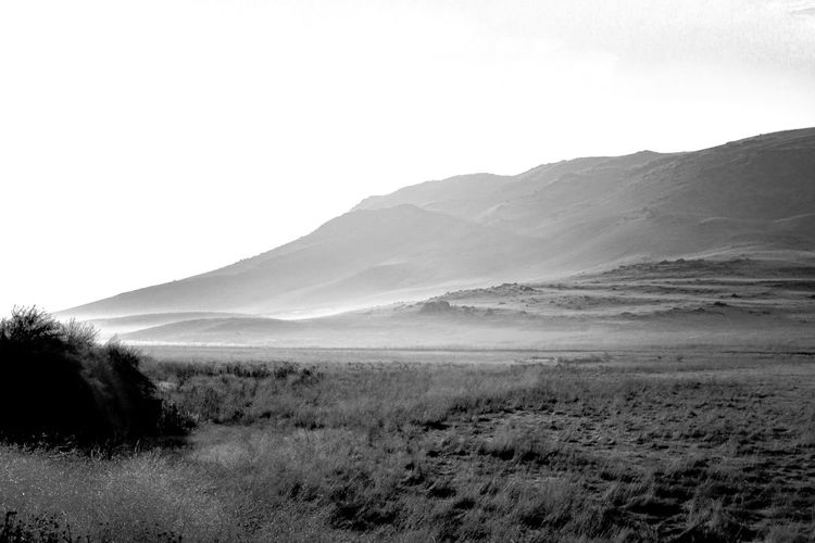 B&w Beauty In Nature Black And White Clear Sky Day Desert Landscape Mountain Nature No People Outdoors Sand Sand Dune Scenics Sky Tranquil Scene Tranquility