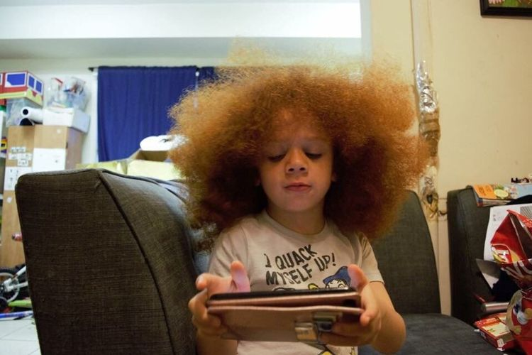 Environmental portrait. NotYourCliche Redfro Afro MixedKid One Person Environmentalportrait