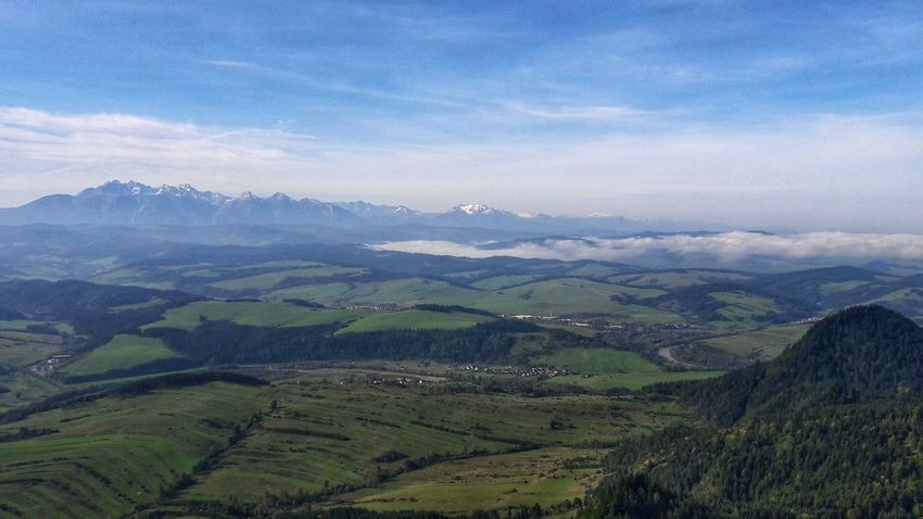 Beauty In Nature Day Landscape Mountain Nature No People Outdoors Pieniny Scenics Sky
