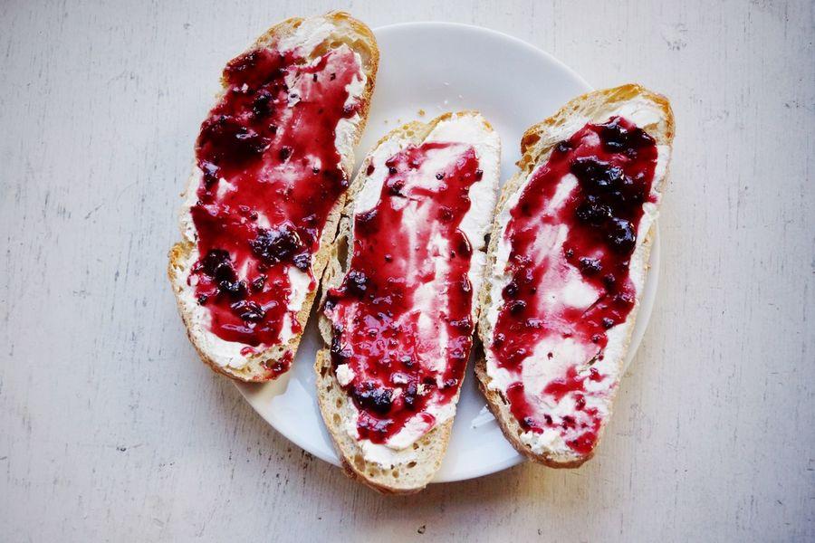 Breakfast sweet Sweet Sandwiches Marmalade Food