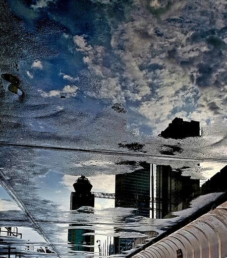 City Reflection Sky Architecture Building Exterior Cloud - Sky Built Structure Rainy Season RainDrop Rainfall Wet Rain Drop Water Drop Raincoat
