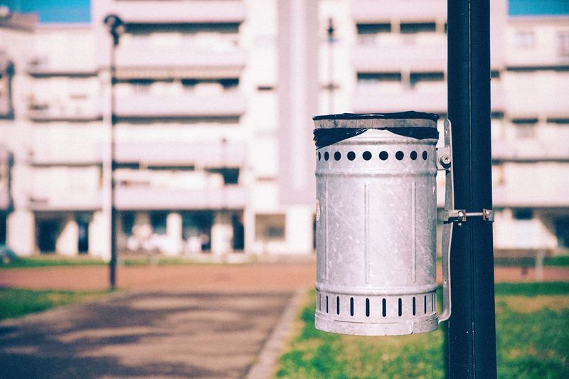 Trashcan Focus On Foreground Metal No People Outdoors Day Trashcan Trash Environmental Conservation Environment Environment Protection Bin Nature City City Street Street Street Photography Streetphotography Trash Can Trash Bin Trashbin