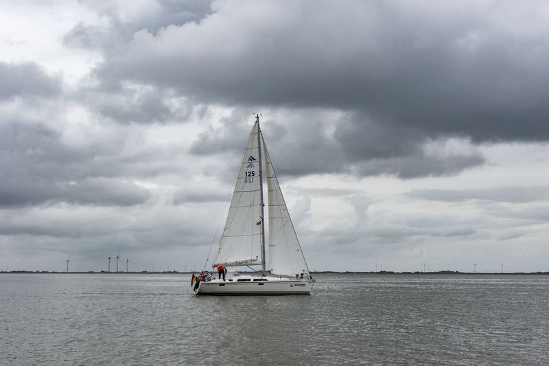 Neuharlingersiel, North Germany Cloud - Sky Sky Sea Sailboat Nautical Vessel Water Waterfront Day Outdoors Mast Sailing Nature Storm Cloud Horizon Over Water Beauty In Nature Sailing Ship