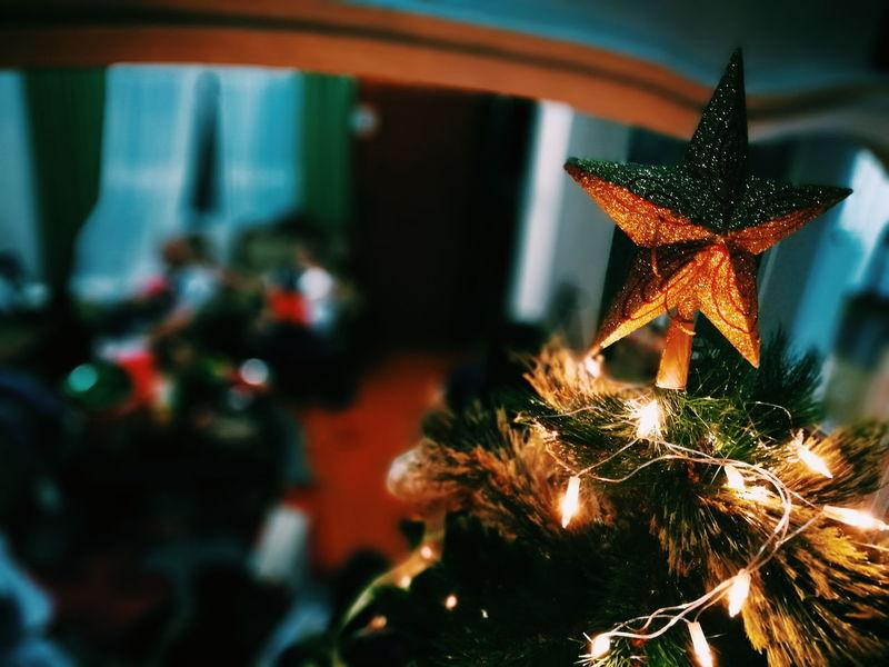 Star of Christmas Close-up Tradition Christmas Lights Holiday - Event Illuminated Christmas Ornament