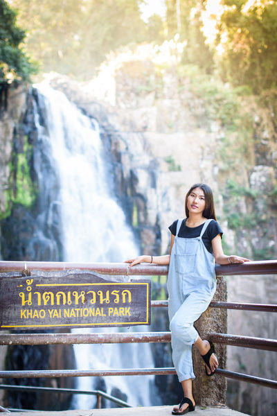 travel Khao Yai National Park Adult Adults Only Beauty In Nature City Communication Day One Person One Woman Only Only Women Outdoors People Portrait Smiling Sunlight Text Travel Destinations Young Adult