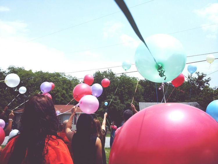 Balloons. People Balloons Sky Urban Nature