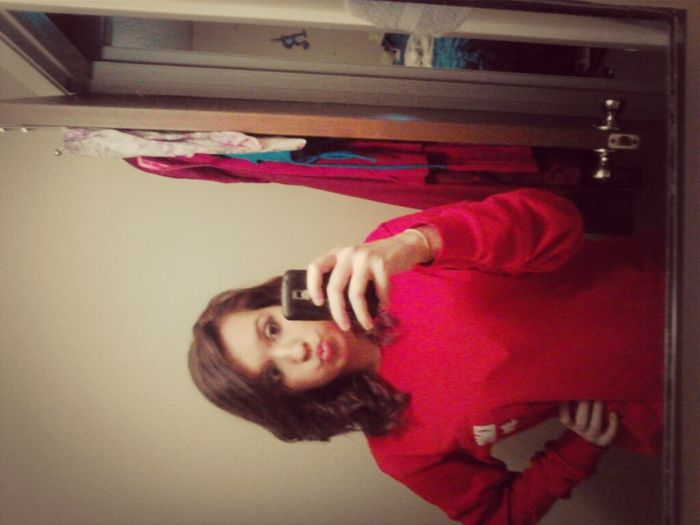 New Dark Reddish Brown Hair(: