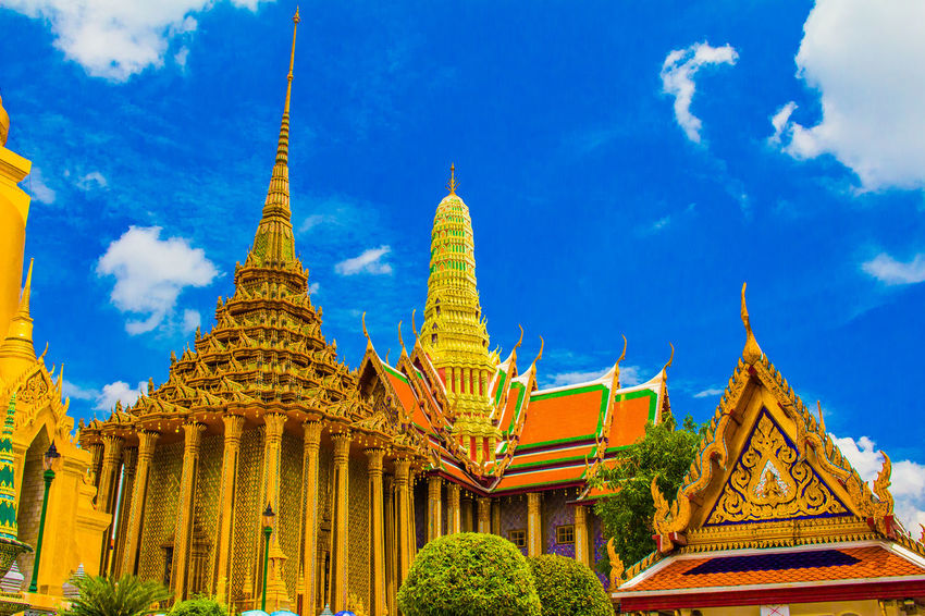 Wat Pho, Bangkok, Thailand, Colorful mosaic outer walls Architecture Bangkok Thailand. Bangkok,Thailand(Siam) Built Structure Gold Colored Pagoda Place Of Worship Religion Siam Spirituality Tourism Tourism Destination Travel Destinations Wat Pho