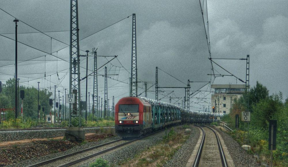 EVB ER20 mit VW Zug Zwickau