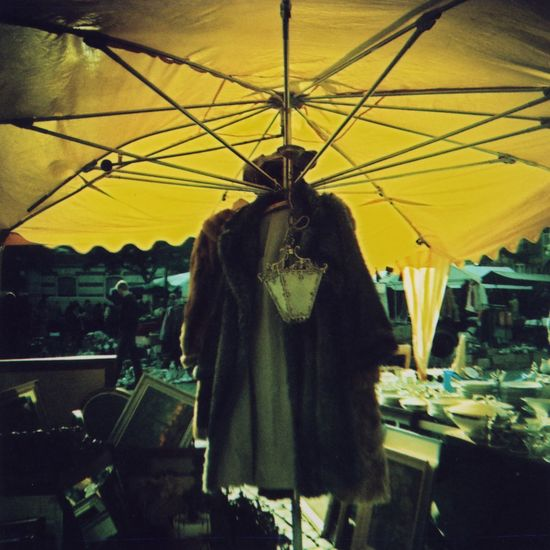 Flea market, Brussels. Diana toycamera. Agfa RSXII