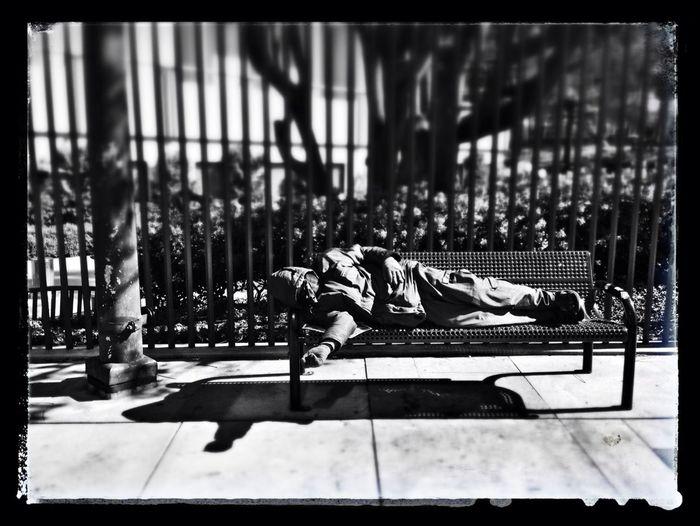 Blackandwhite Homeless Sleeping It Off Call My Agent