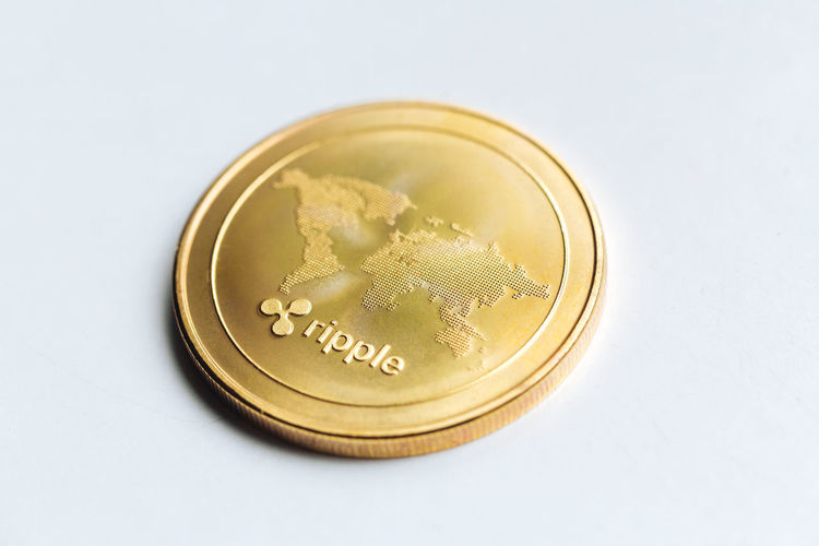 Bitcoin Business Close-up Coin Consumerism Crypto Currency Cryptocurrency Currency Economy Finance Gold Gold Colored Investment Luxury Making Money Ripple Single Object Studio Shot Wealth White Background