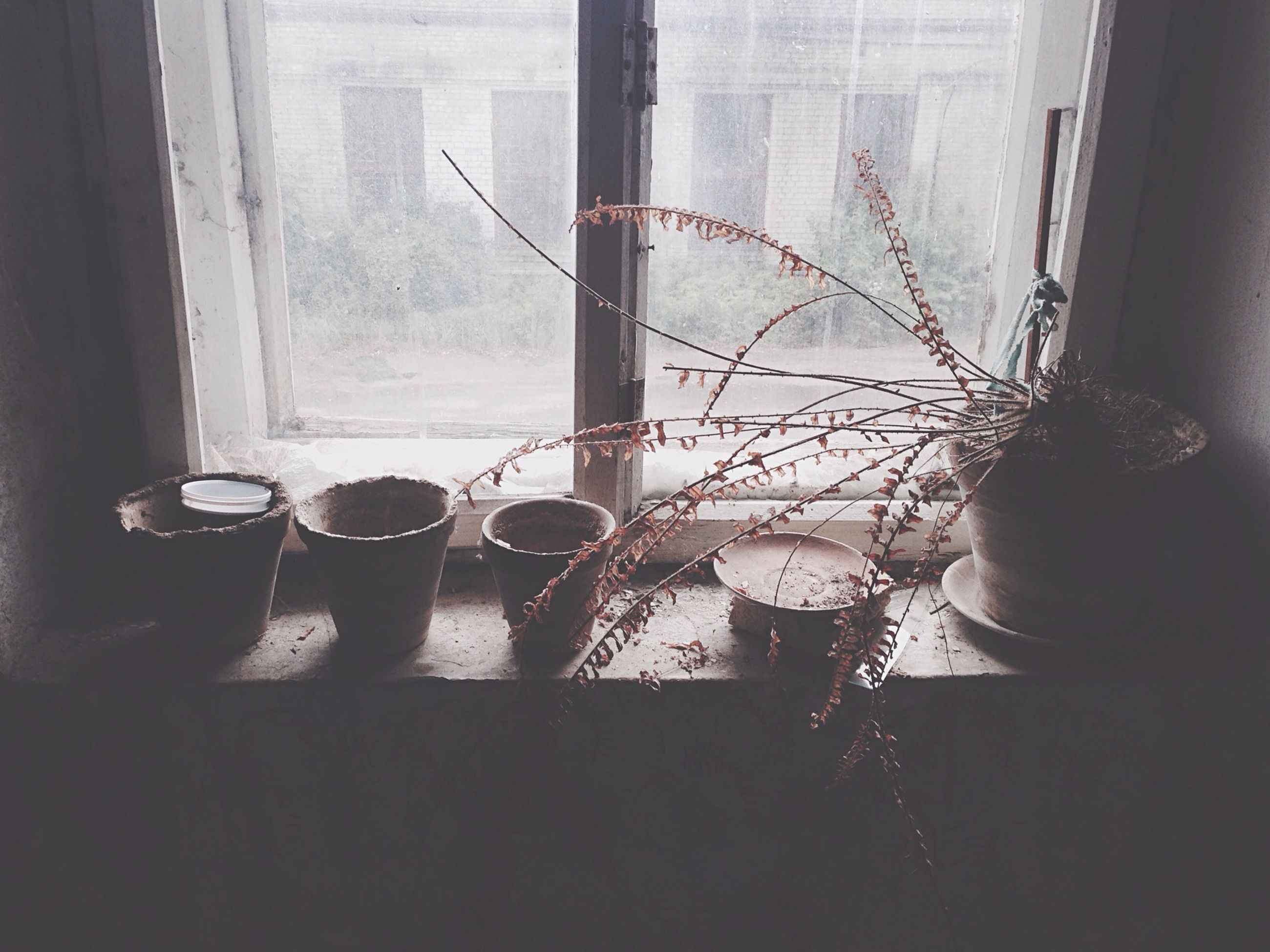 indoors, window, glass - material, home interior, curtain, transparent, window sill, table, chair, house, built structure, architecture, potted plant, day, hanging, glass, reflection, looking through window, domestic room, no people