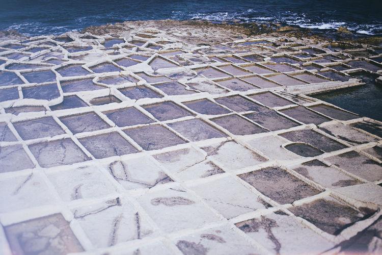 Exploring Footpath Malta Pattern Rock Formation Sal Salt Pans Sandstone Sea Walkway Water