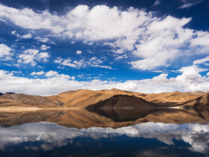 Cloud - Sky Sky Scenics - Nature Beauty In Nature Mountain Tranquil Scene Tranquility Water Lake Environment Non-urban Scene Landscape Mountain Range Nature Reflection Arid Climate Outdoors Blue Sky Leh India Adventure Travel Travel Photography Travelling Travel Destinations